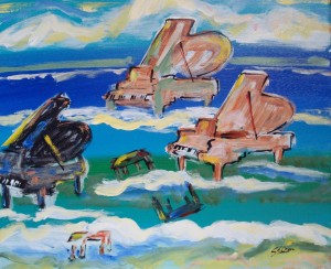"""Pianos in the Surf"" by Peter Stilton"
