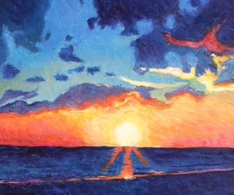 End of Day Series - Sunset by Gainor Roberts