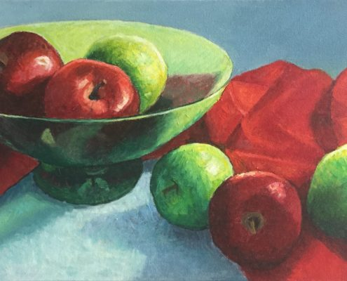 Red and Green Still Life by Gainor Roberts