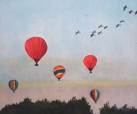 Skyscrape Series #4 Early Morning Flight by Gainor Roberts