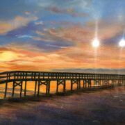 Sunrise at Safety Pier by Alice Anderson