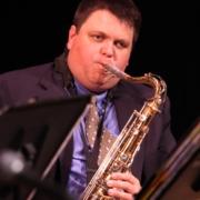 Jazz musician Matt Weihmuller on saxophone.
