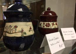 Ceramics - Round jars with lids