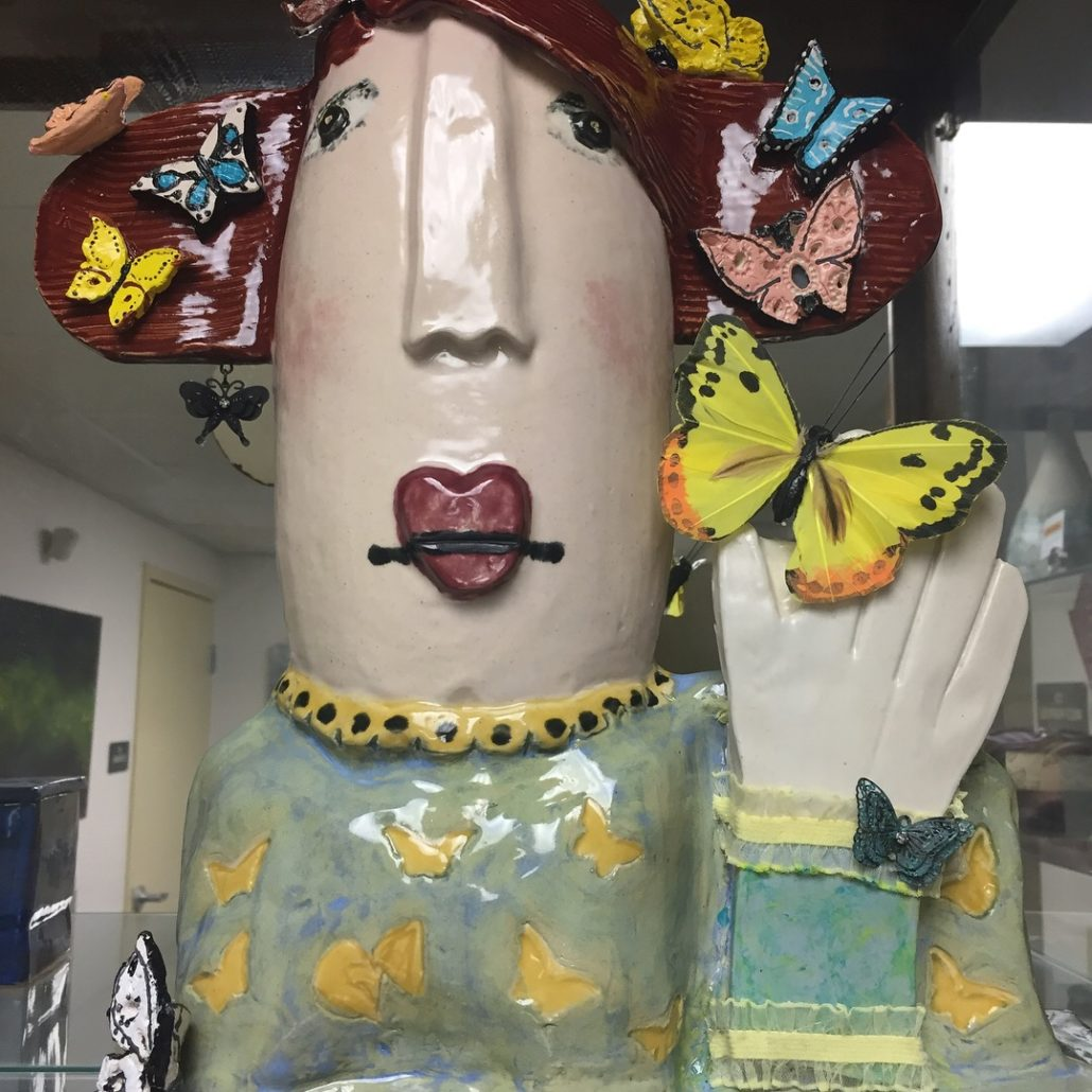 Hand Building Class - Madame Butterfly by Debbie Hofer (2)