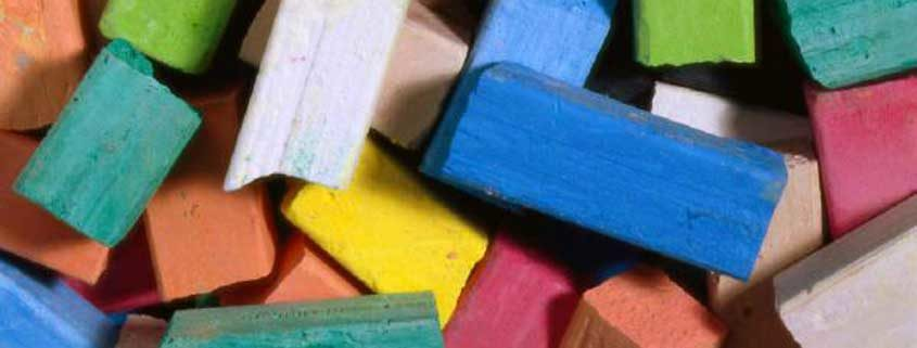 Colorful art chalk sticks