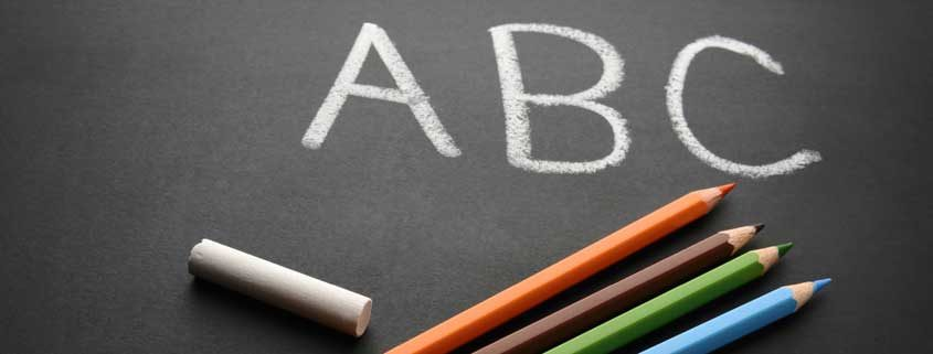 ABC Chalkboard with Colored Pencils- Workshops
