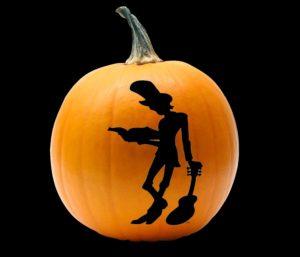 Mr Tommy Logo on Halloween Pumpkin black background