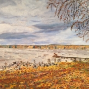 """""""Fall Day at Oneida Lake"""" by Catharine DeMare"""