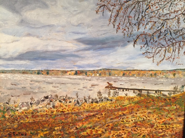 Fall Day at Oneida Lake by Catharine DeMare - 2nd place