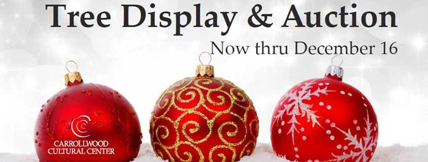 2018 Tree Display and Auction image banner