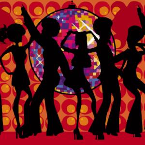 1970s dance graphic