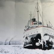2nd - Richard Solon - SS Alabama on Lake Michigan Ice 1920's