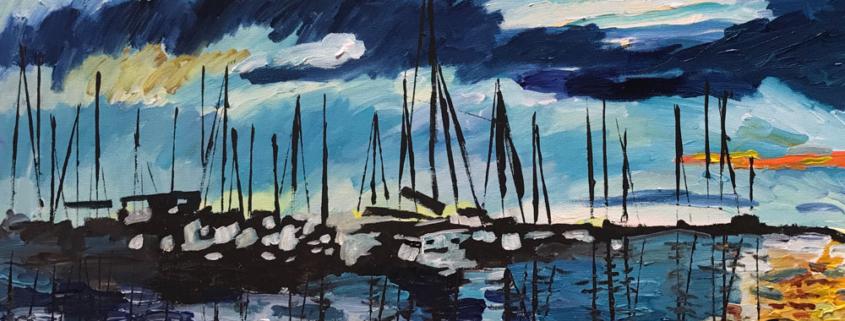 Sunrise-On-the-Harbor by Caroline Karp - 845x321