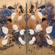 7 Bee Diptych by Dionne Seevers