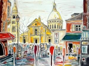 Place du Tertre by Patricia Klewe Derderian