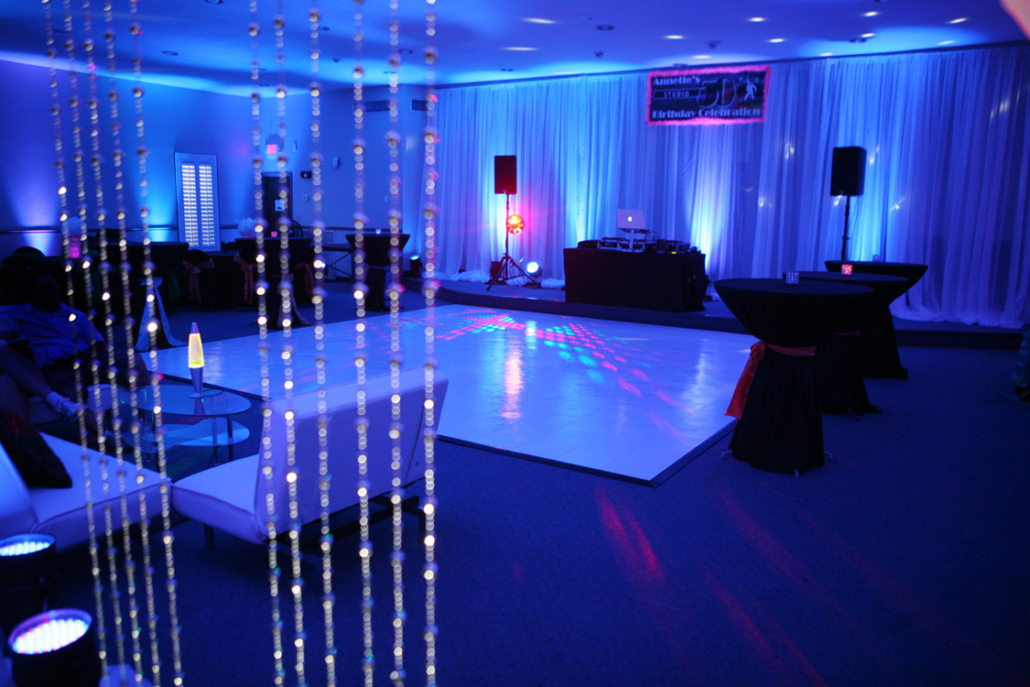 The Studio Party with white dance floor