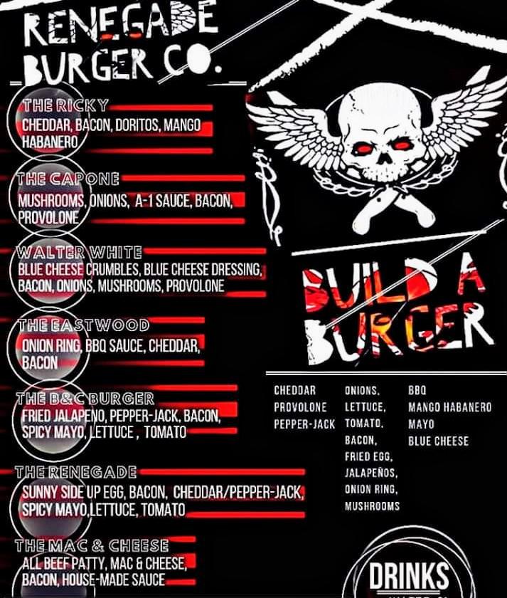 Renegade Burger Co. Menu