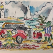 Celebrating Seuss - HM - Hollywood Crowd Alligators at Fort DeSoto by Peter Stilton
