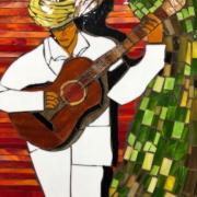 HM - The Guitar Player by Maria Ortiz-Haynes - mosaic