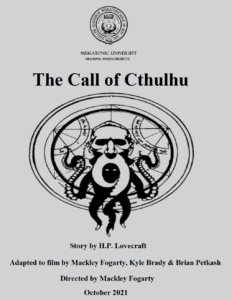 """""""THE CALL OF CTHULHU"""" On Demand Virtual Screening @ Carrollwood Cultural Center (Virtual Event)"""