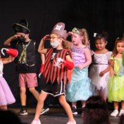 """2021 Summer Camp photos of artwork, activities, and the Show & Share from """"Off to Never Never Land"""" week."""