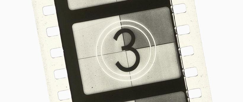 Film Strip countdown film reel