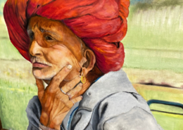 EMERGing Artists 3rd Place - Indian Villager - by Sheka Kasturi