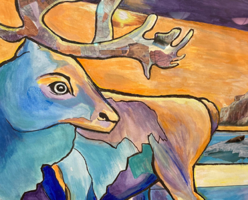 EMERGing Artists HM - Caribou 2 - by Debra Campbell