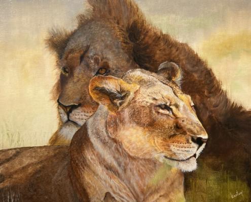 HM -Two Lions - by Sheka Kasturi